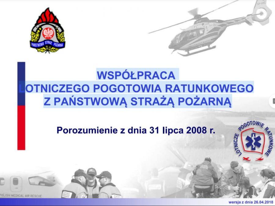 Współpraca LPR z PSP na mocy porozumienia z 2008 roku [PREZENTACJA] [wersja 04.2018]