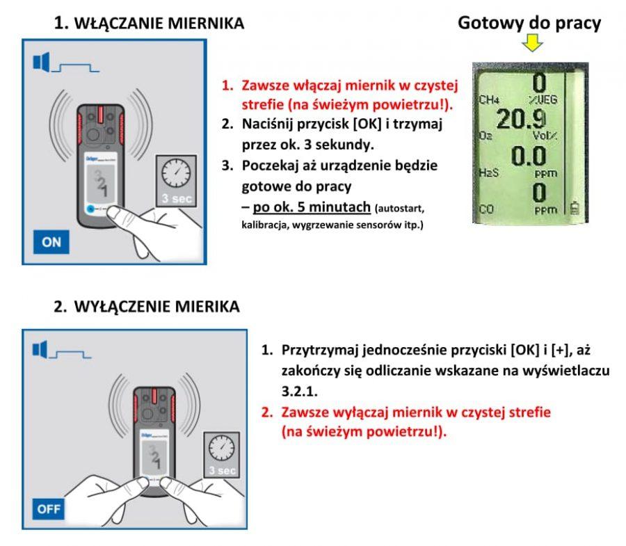 [INSTRUKCJA] Miernik wielogazowy Drager X-am 2500, ściągawka, opracowanie, instrukcja po polsku (PL)
