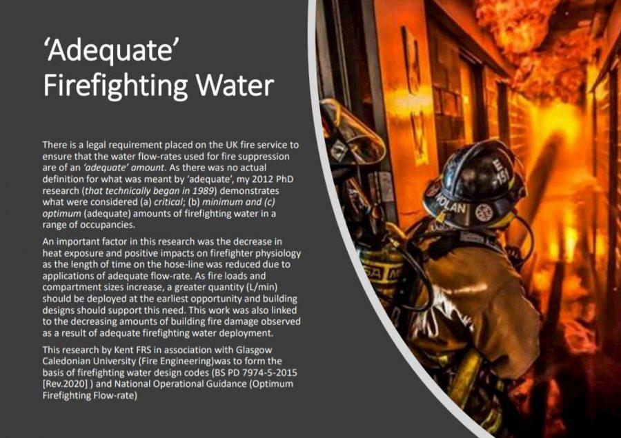'Adequate' Firefighting Water - P. Grimwood (czyli wyniki badań dotyczących odpowiedniej/optymalnej ilości wody podczas działań gaśniczych)