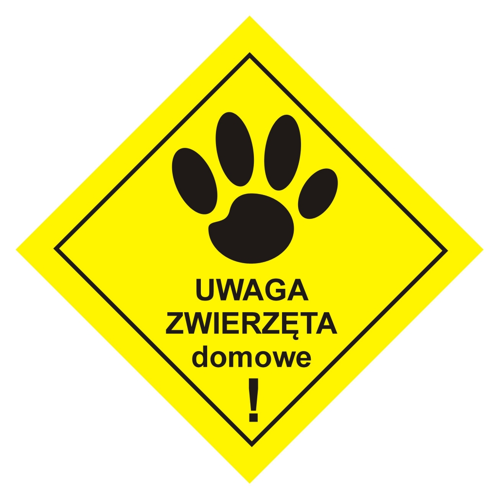uwaga zwierzęta domowe ostrzeżenie