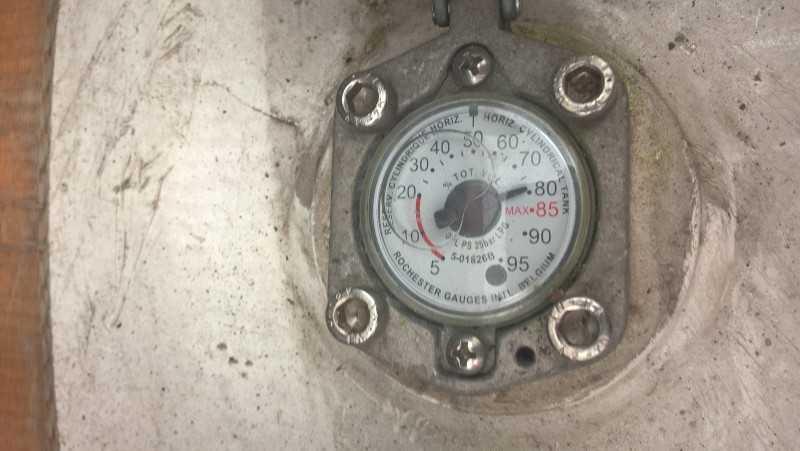 Poziomowskaz poziomu gazu w zbiorniku LPG