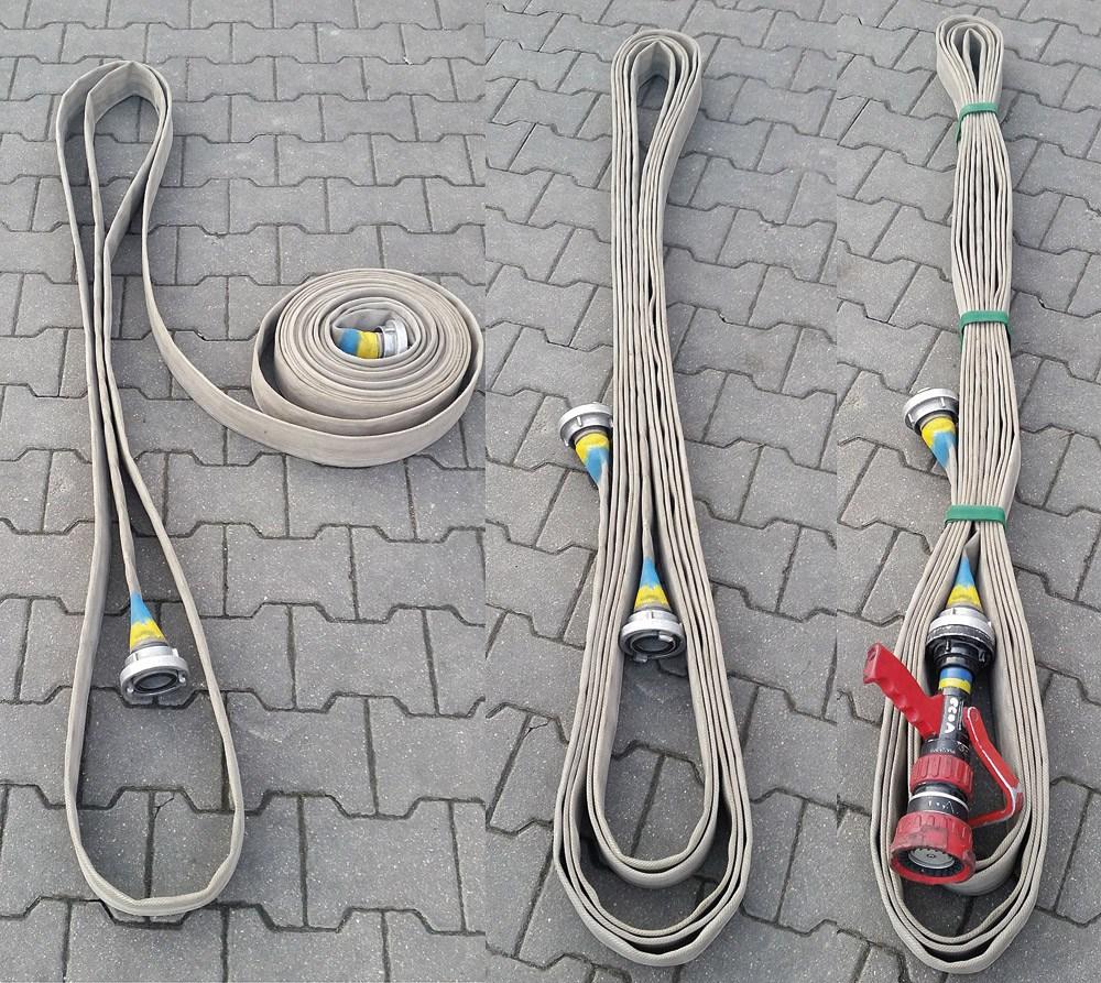 przygotowanie odcinka wężowego