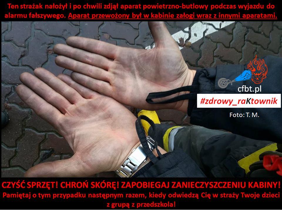 Zdrowy raktownik brudne ręce