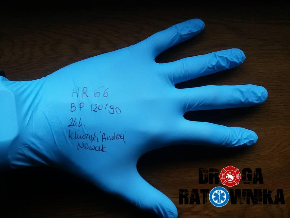 Patent z rękawiczką nitrylową