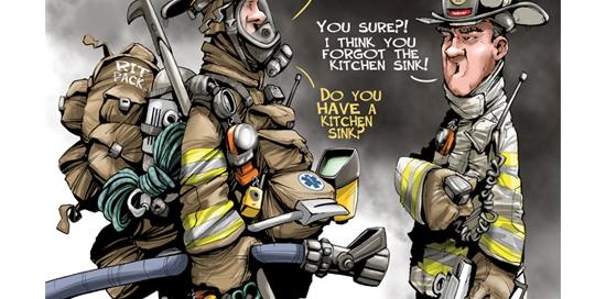 Paul Combs wyposażenie dodatkowe strażaka