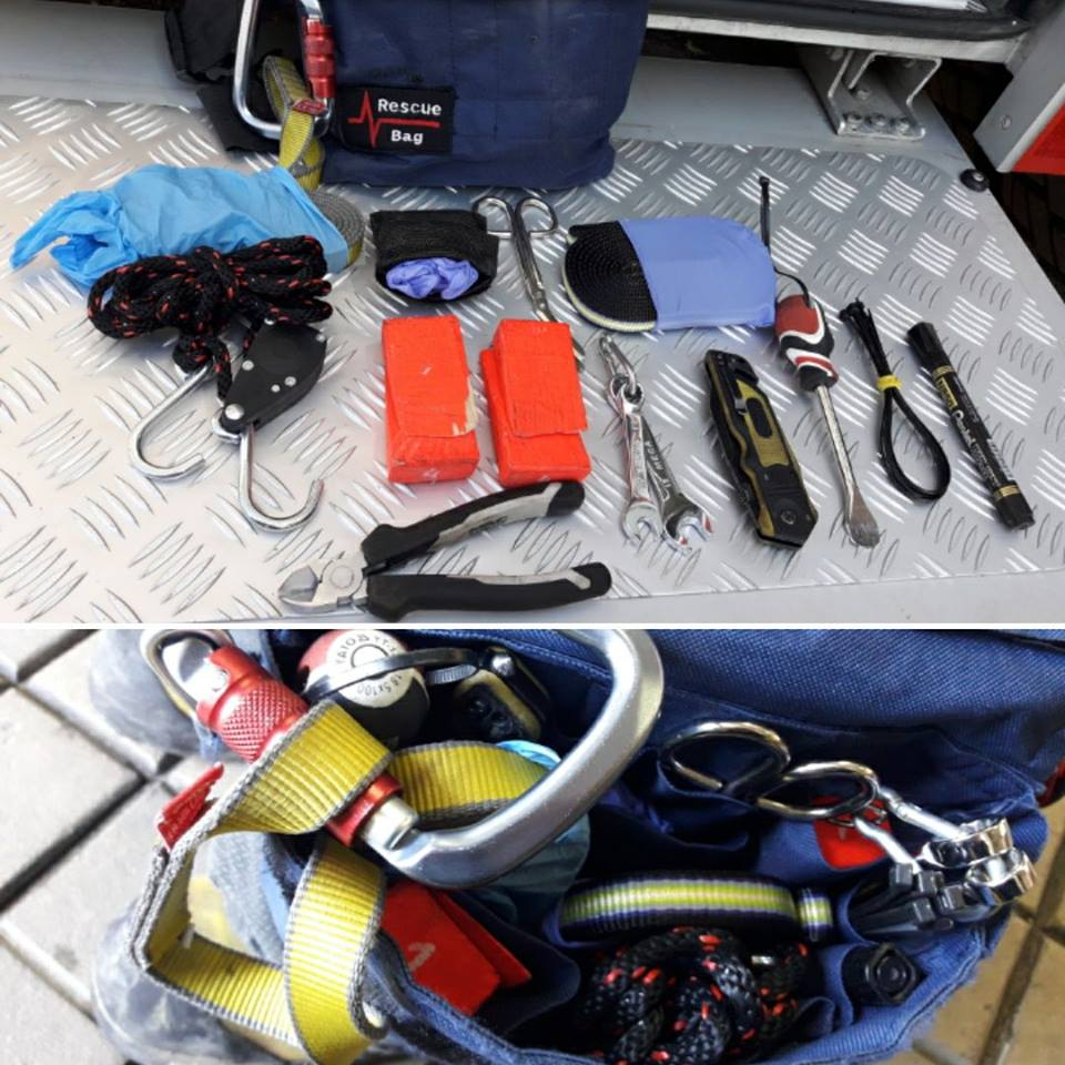Wyposażenie rescuebag'a