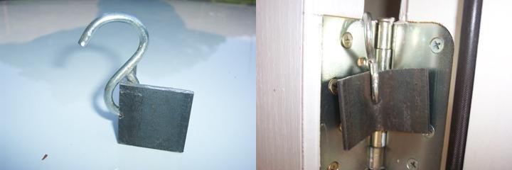 Zawieszka na zawiasy w drzwiach