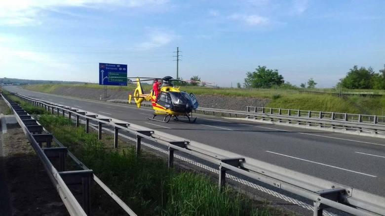 LPr na wypadku na A1