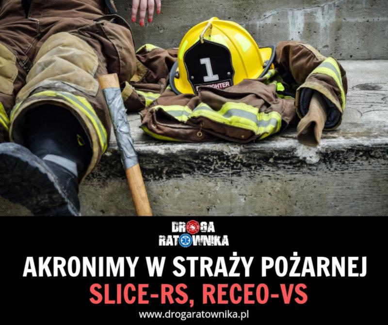 Akronimy w straży pożarnej slicers receovs
