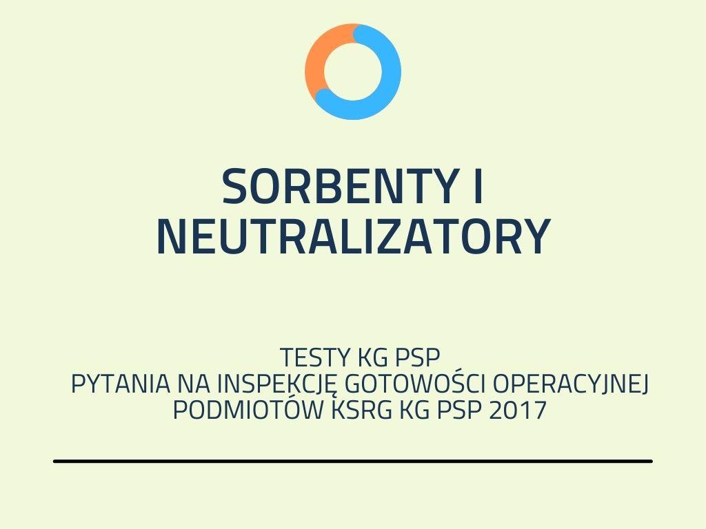 sorbenty i neutralizatory
