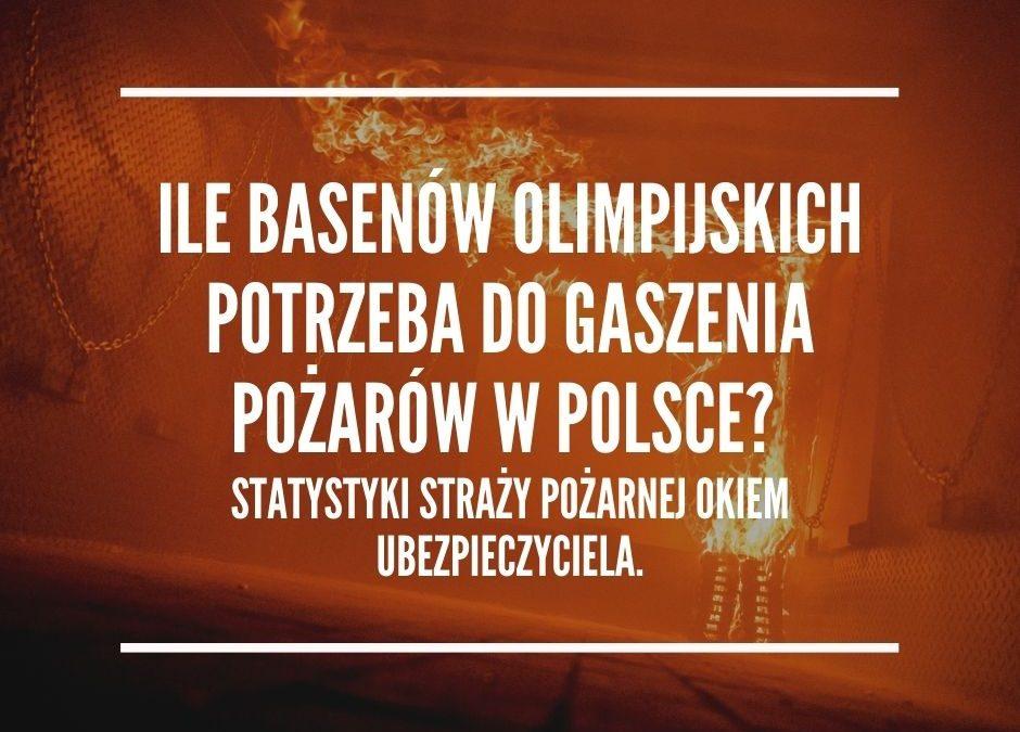 Ile basenów olimpijskich potrzeba do gaszenia pożarów w Polsce? Statystyki straży pożarnej okiem ubezpieczyciela.